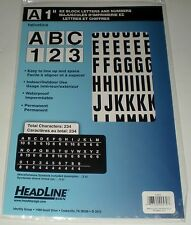"SCRAPBOOKING SIGN SELF STICK LETTERS NUMBERS 1"" EZ BLOCK HEADLINE 2570 BLACK NEW"