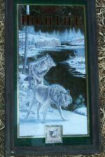 Rare Miller High Life Wolf Beer Mirror Bar Sign Wildlife Series