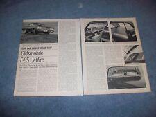1963 Oldsmobile F-85 Jetfire Vintage Road Test Informazioni Articolo F85    from
