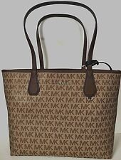 New Michael Kors Candy Large Reversible Tote in Signature PVC Beige / Black