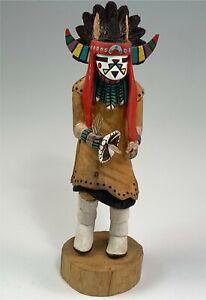 Signed Hyram Namoki Hopi Cottonwood Kachina Dancer Hand Carved, Painted