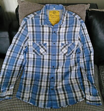 River Island shirt with black stud buttons (not denim)