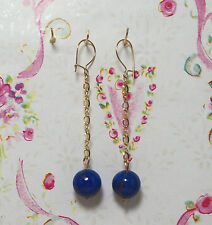 Lapis Lazuli With 14K Gold Filled Earrings. 2.25 Inches Long. E039