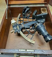 C.Plath Standard Sextant in Wood Box 1950's #38573 Used