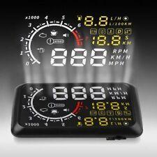 """5.5"""" Car HUD Head Up Display KM/h EU-OBD OBDII Speed Warning Project System New"""