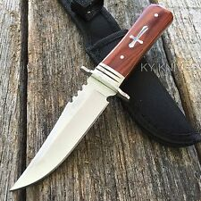 """8"""" STAINLESS STEEL WOOD HANDLE HUNTING KNIFE Survival Skinning Bowie 8151 zix2"""