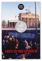 FRANCIA FRANCE 10 € EURO 2019 FALL OF THE BERLIN WALL 1989 / 2019 COINCARD @RARE