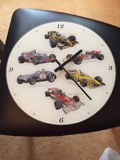 F1 GRAND PRIX GLASS WALL CLOCK FROM THE LEONARDO COLLECTION