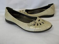 Hush Puppies 6 M Star Shine Taupe Leather Loafers New Womens Shoes NWOB