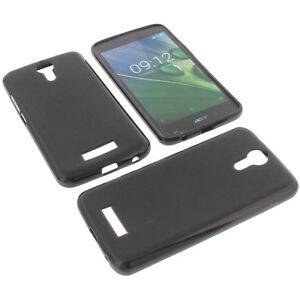Tasche für Acer Liquid Zest Plus Handytasche Schutz Hülle TPU Gummi Case Schwarz