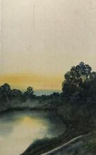 Original Stanley A Burchett Watercolour Seascape, Cove Painting , Signed,