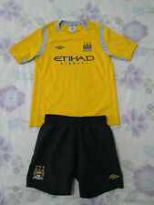 Boys Manchester City football kit shirt+shorts size LB/152 Umbro