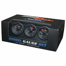 MaxTow 52mm Black & Blue Diesel Boost, EGT & Fuel Pressure Gauges MT-BDV-DS2