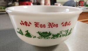 Vintage Hazel Atlas Tom& Jerry, Egg Nog Bowl, Holiday