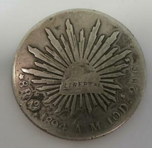 1894 8 Reales Mexico City AM KM#377.10 *.903 Silver* 26.12g 38.9mm A127