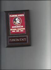 FLORIDA STATE SEMINOLES CHAMPIONSHIP BANNER PLAQUE FOOTBALL NCAA NATIONAL CHAMPS