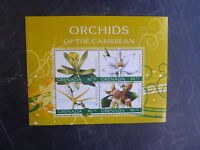 2010 GRENADA ORCHIDS OF THE CARIBBEAN 4 STAMP MINI SHEET MNH