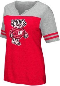 Colosseum Women's Wisconsin Badgers On A Break T-Shirt - Size XXL