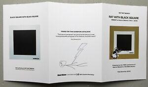 Banksy vs Kazimir Malevich, Not Not Banksy Blasé Pamphlet, Signed