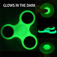 Fidget Spinner Glow in the Dark Hand Finger Toy Tri Focus Desk Tool EDC Autism