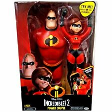 "Incredibles 2 Power Couple Mr. Incredible and Elastigirl 12"" Action Figures with"