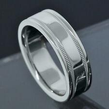 Tiffany & Co. Platinum PT950 6MM Wide Milgrain Wedding Band Ring Size 5.75