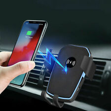 Qi Fast Wireless Car Charger Gravity Car Holder Air Vent Mount For iPhone 12 XS