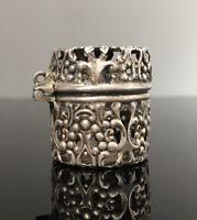 Antique Art Nouveau Victorian Sterling Silver Webster Chatelaine Thimble Case