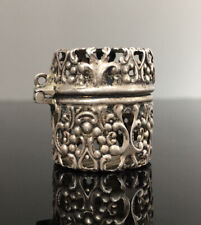 Antique Art Nouveau Victorian Sterling Silver Webster Chatelaine Thimble Case