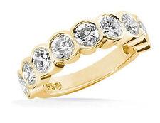1.81 carat, 9 Round Diamond Wedding Band Anniversary Ring 14k Yellow Gold