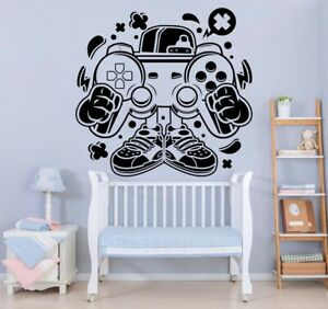 Eat Sleep Game Video Gaming Controller Wall Vinyl Decal Sticker Decor TK2351