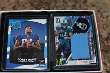 2017 Unparalleled Corey Davis Rookie Swatch #199 plus Rookie Rated card