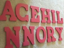 "9"" Tall, 6.5"" Wide, Wood Letters, Hot Pink"