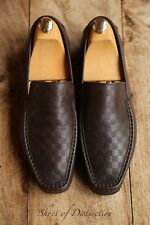 Men's Louis Vuitton Brown Leather Loafers Driving Shoes Uk 8 Us 9 Eu 42