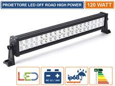 120W FARO LED CREE OFF ROAD LUCE DI LAVORO SUPPLEMENTARE 12V-24V 120W IP68 JEEP