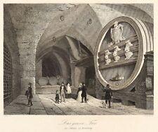 HEIDELBERG - SCHLOSS - KARL-THEODOR-FASS - A. H. Payne - Stahlstich 1847