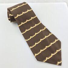 Vintage Silverwoods Brown Patterned Lightweight Silk Tie 50's / 60's