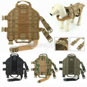 Military Training Tactical Dog Vest Harness Soft Outdoor Canine XS/S/M/L/XL Size