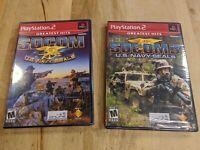 SOCOM: U.S. Navy SEALs & Socom 3 (Sony PlayStation 2, 2003) (2) Game lot