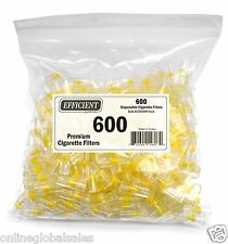 EFFICIENT Bulk Cigarette Filter Tips Block, Filter Out Tar & Nic (600 Filters)