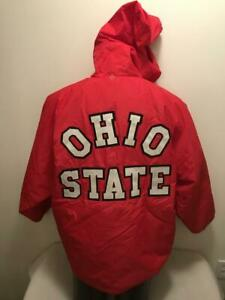 Vtg Ohio State University Buckeyes Band Champion Hooded Jacket Coat Mens Medium