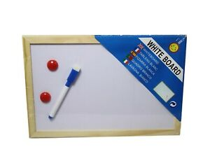 Mini Magnetic Whiteboard 30cm x 20cm Home School Office - Dry Wipe