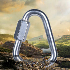 Triangle Shape Mountain Rock Climbing Stainless Steel Screw Lock Carabiner Gift