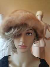 Furs by Gaylon Admore PA. VINTAGE Fur Hat brown wire brim Fox?