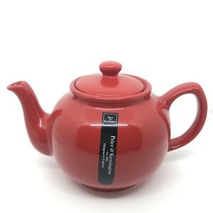Price & Kensington 6 Cup Teapot Red Traditional Style China Brand New