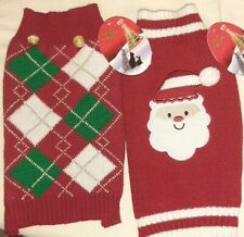 Father Christmas OR ARGYLE KNIT DOG PUPPY JUMPER SWEATER SIZE small Pets at Home