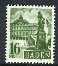 GERMANY ALLIED OCC BADEN;   1947 early pictorial Mint MNH unmounted 16pf.