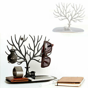 UK Jewelry Tree Stand Display Organizer Necklace Ring Earring Holder Show Rack