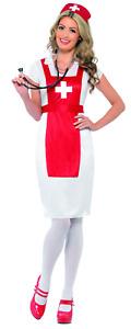 A&E Nurse Ladies Costume Party Fancy Dress Costume UK SMALL