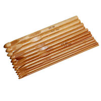 1 Set Tunesische Häkelnadeln, Bambus, Mix 3 -10mm, 12 Stück Basteln Häkeln DIY